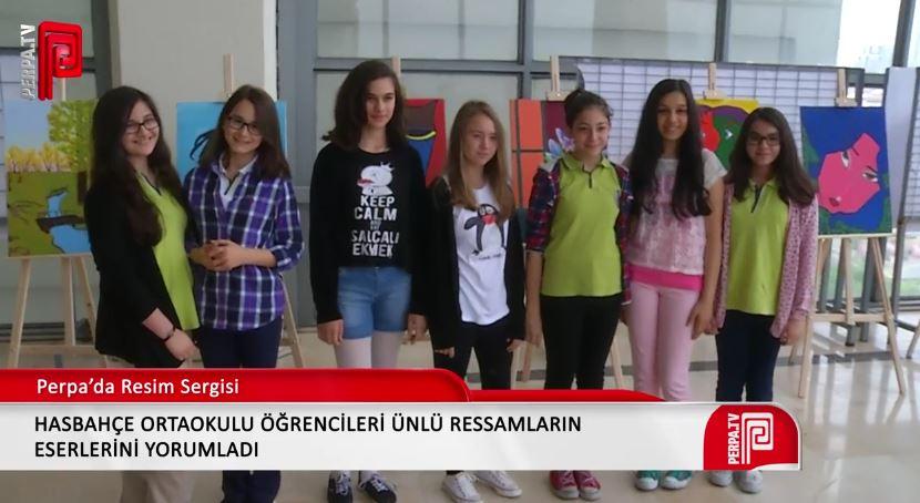 Hasbahçe Ortaokulu Perpa'da sergi düzenledi