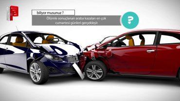 En çok araba kazası hangi gün olur?