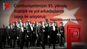 Cumhuriyetin 93. Yılı Kutlu Olsun!