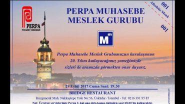 Perpa Muhasebe Meslek Grubu 20. Yılını kutluyor