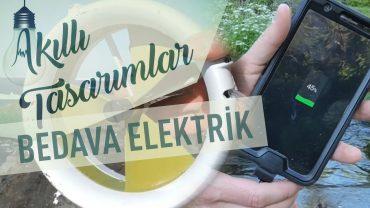 Su ve Rüzgardan Elektrik Üreten Mini Kamp Cihazı