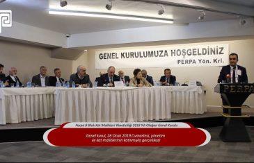 Perpa B Blok Kat Malikleri Yöneticiliği 2018 Yılı Olağan Genel Kurulu