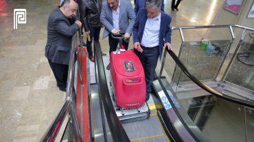 Yürüyen Merdiven Temizleme Makinası