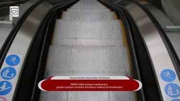 Yürüyen Merdiven Basamakları Temizleniyor