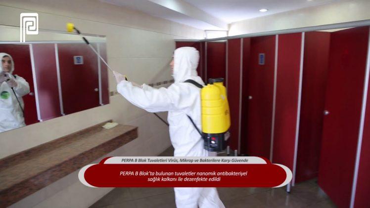PERPA B Blok Tuvaletleri Virüs, Mikrop ve Bakterilere Karşı Güvende