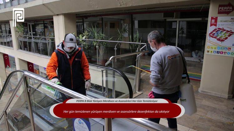 PERPA B Blok Yürüyen Merdiven ve Asansörleri Her Gün Temizleniyor
